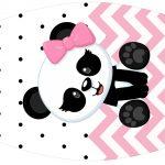 Rotulo Esmalte Panda Rosa Menina