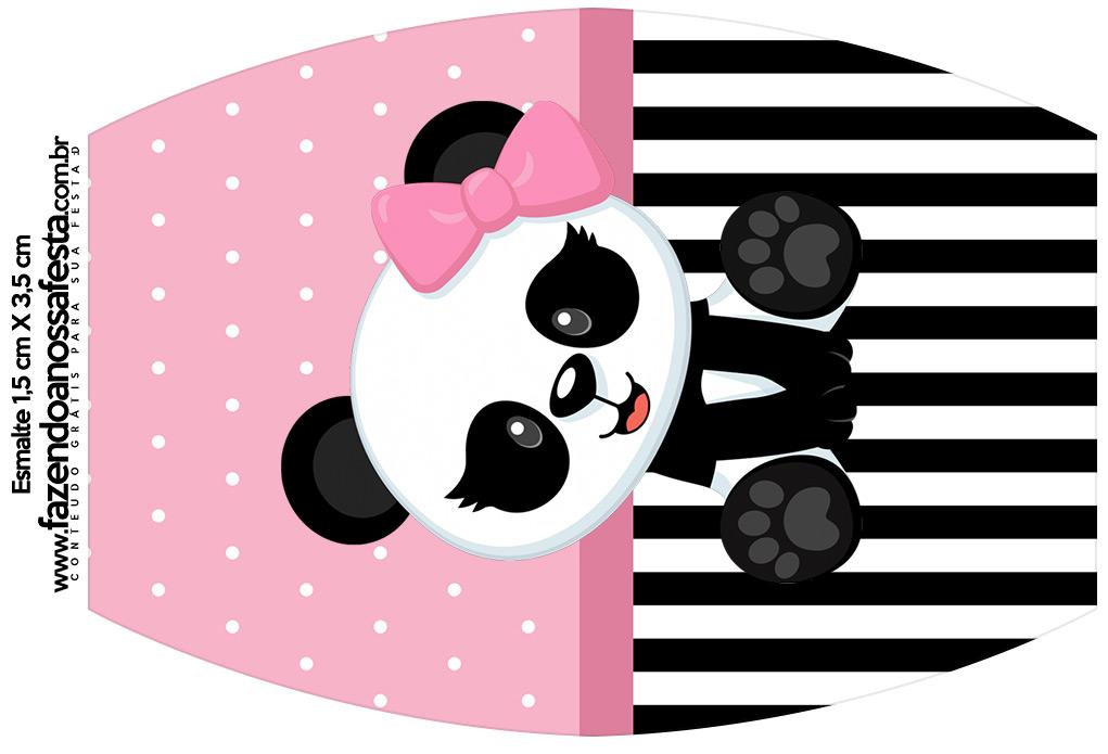 Rotulo Esmalte Panda Rosa