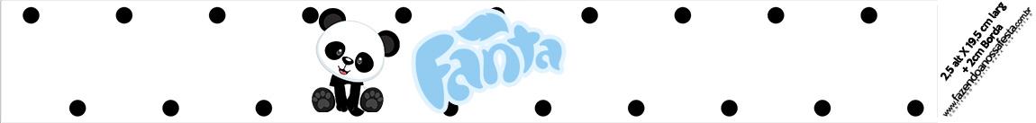 Rotulo Fanta Panda Azul