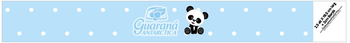 Rotulo Guarana Caculinha Panda Azul Menino