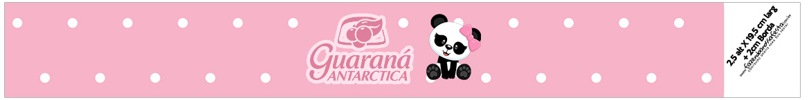 Rotulo Guarana Caculinha Panda Rosa