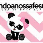 Rotulo Lapis Panda Rosa Menina