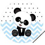 Rotulo Latinhas, Toppers e tubete Panda Azul