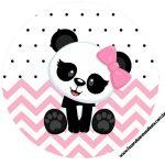 Rotulo Latinhas, Toppers e tubete Panda Rosa Menina