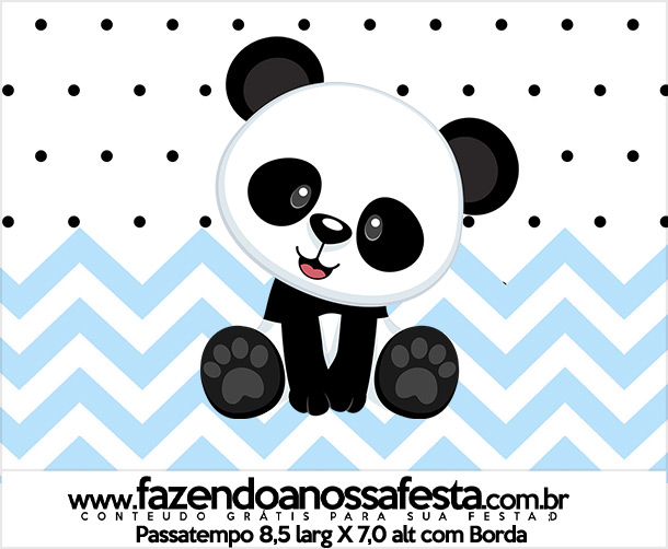 Rotulo Passatempo Panda Azul