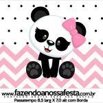 Rotulo Passatempo Panda Rosa Menina
