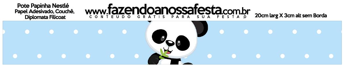 Rotulo Pote Papinha Nestle Panda Azul Menino