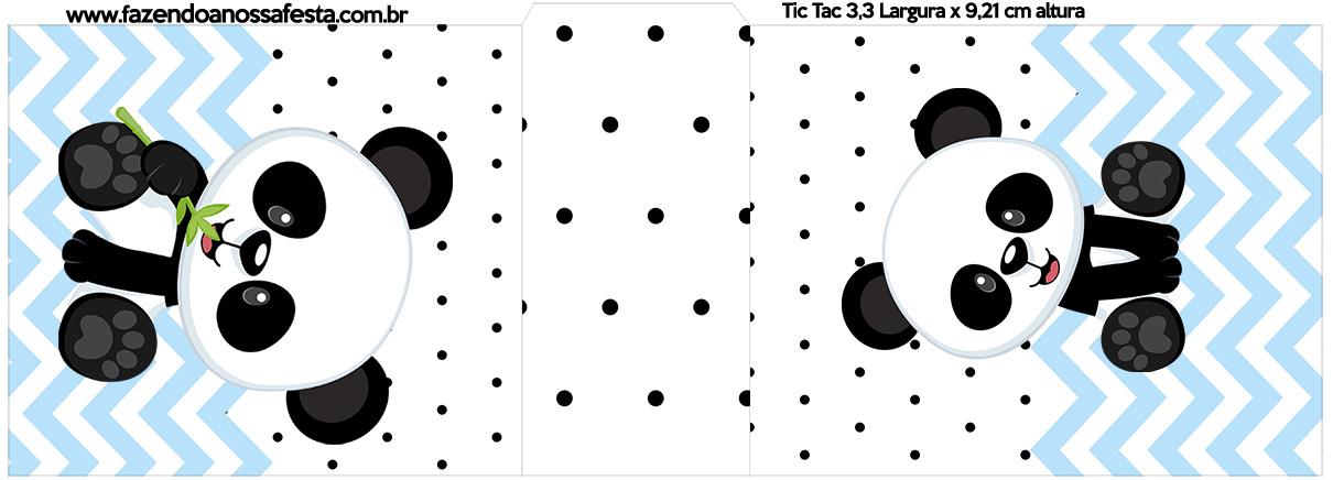 Rotulo Tic Tac Panda Azul