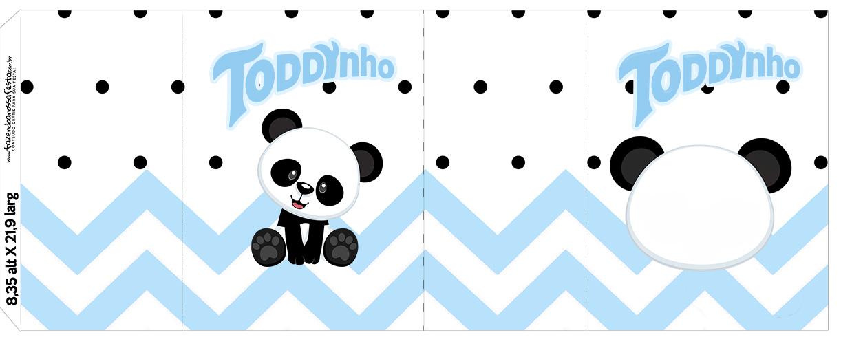Rotulo Toddynho Panda Azul