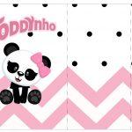 Rotulo Toddynho Panda Rosa Menina