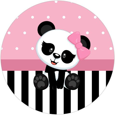 Rotulo Tubete 2 Panda Rosa Kit Festa