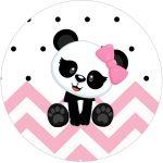 Rotulo Tubete 2 Panda Rosa Menina