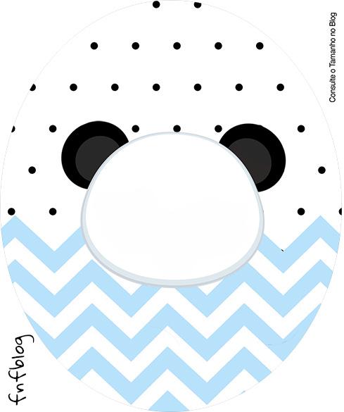 Rotulo Tubete Oval Panda Azul