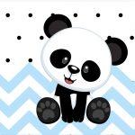 Rotulo Tubetes Panda Azul