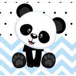 Rotulo Vinho e Espumante Panda Azul