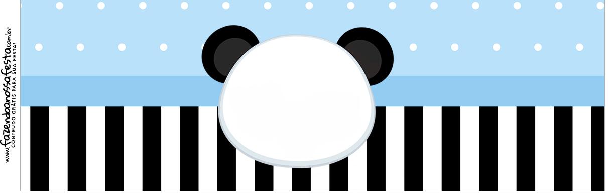 Rotulo para Squezze Panda Azul Menino