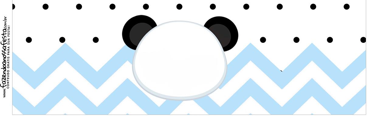 Rotulo para Squezze Panda Azul