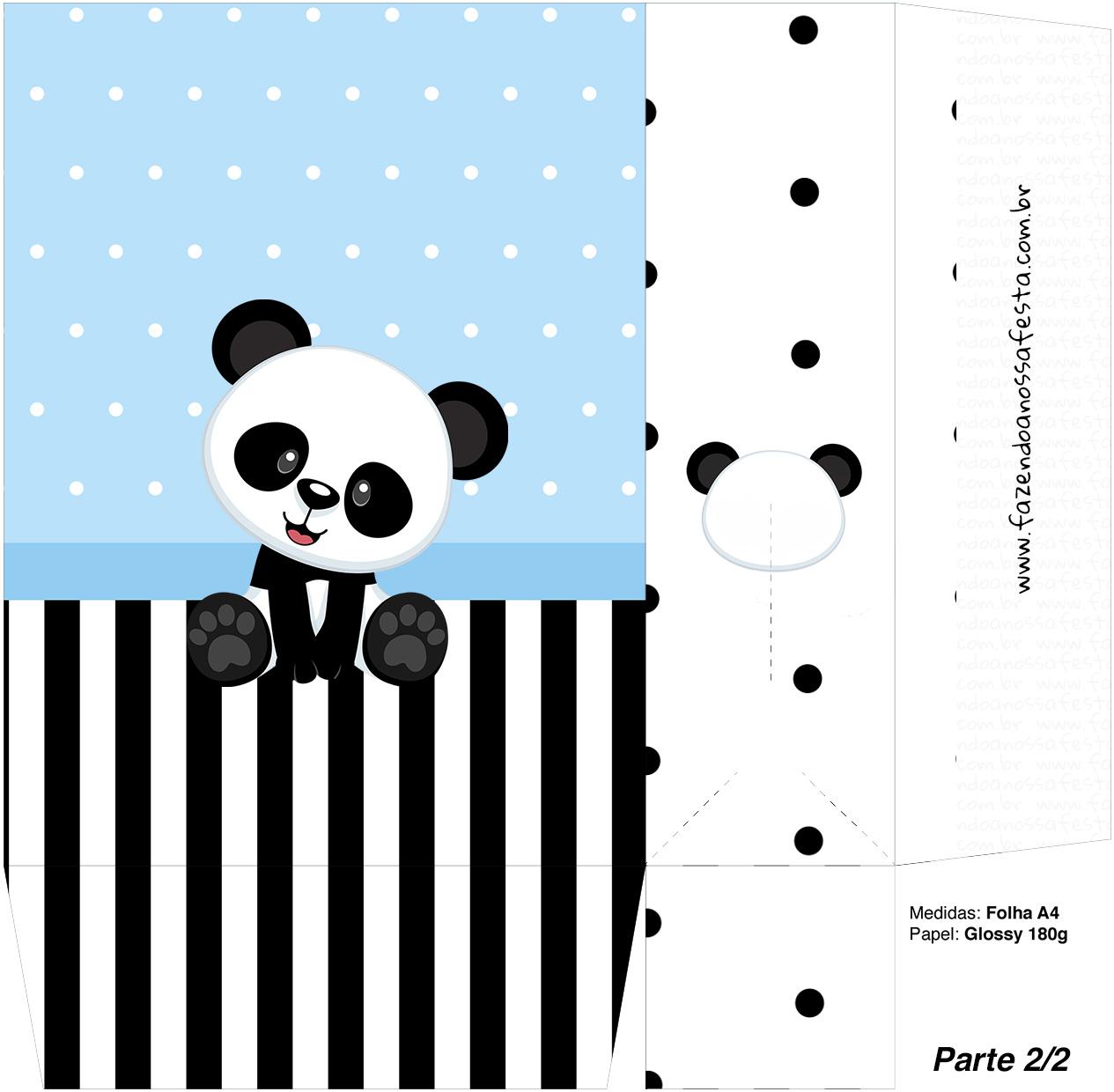 Sacolinha Surpresa 2 2 Panda Azul Menino
