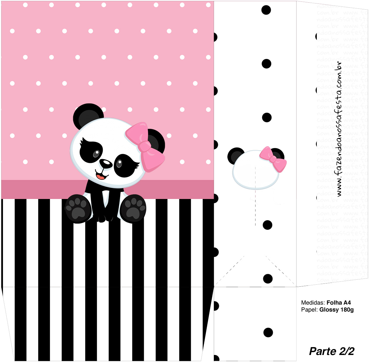 Sacolinha Surpresa 2 2 Panda Rosa Kit Festa