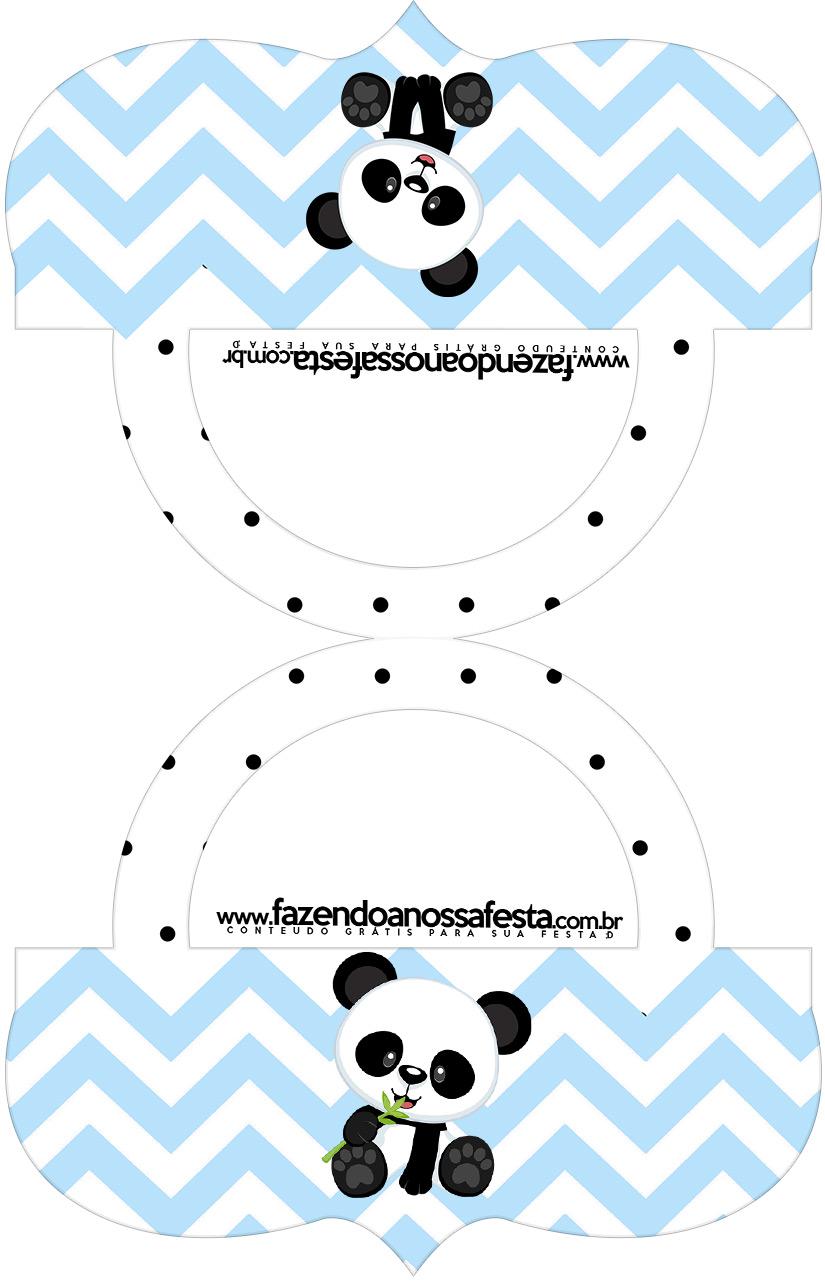 Saquinho de balas Bolsinha Panda Azul