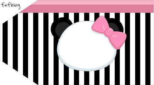 Tag Agradecimento Etiqueta Panda Rosa Kit Festa