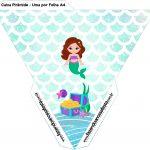 Caixa Piramide Sereia Cute Kit Festa