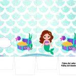 Caixa de leite Sereia Cute Kit Festa