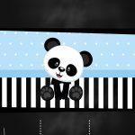 Chalkboard Panda Azul