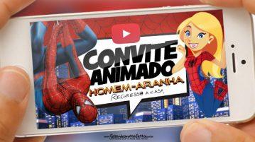 Convite Animado Virtual Homem Aranha