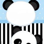 Convite Festa Panda Azul
