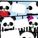 Convite Gibi Panda Azul