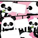 Convite Gibi Panda Rosa Menina