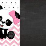 Convite Infantil Panda Rosa menina