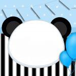 Convite Panda Azul 3