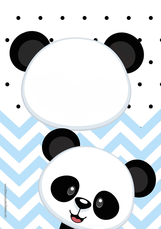 Convite Panda Menino Azul 4