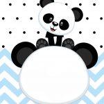 Convite Panda Menino Azul 5