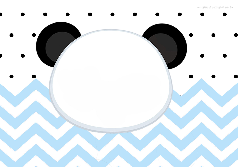 Convite Panda Menino Azul 6