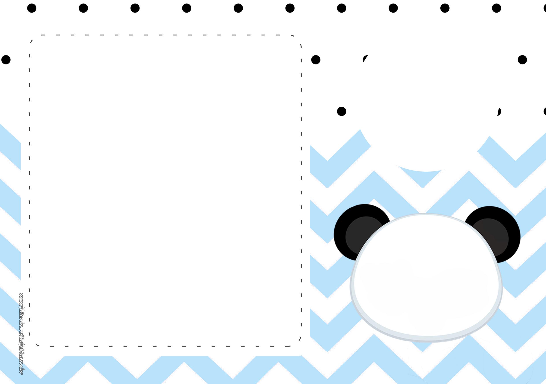 Convite Panda Menino Azul 7