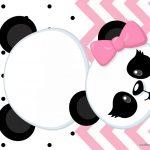 Convite Panda Rosa Menina 2