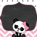 Convite Panda Rosa Menina 4