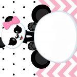 Convite Panda Rosa Menina 6