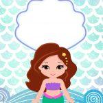 Convite Sereia Cute 5