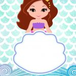 Convite Sereia Cute 6