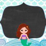 Convite Sereia Cute 7