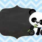Convite Tema Panda Menino Azul