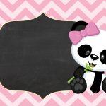Convite Tema Panda Rosa Menina