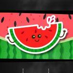 Convites Melancia virtual animado gratis para whatsapp