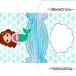 Envelope CD DVD Sereia Cute Kit Festa