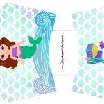 Envelope Fritas Sereia Cute Kit Festa