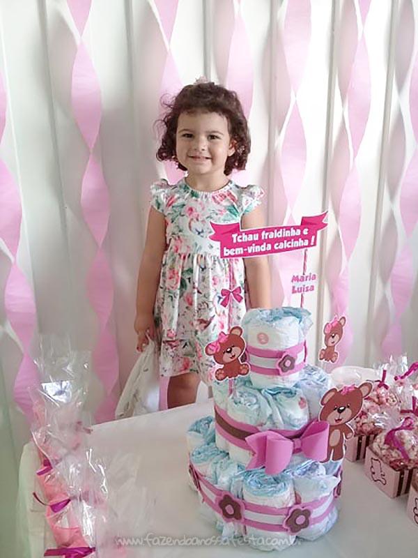 Festa Infantil Adeus Fraldinha da Maria Luiza